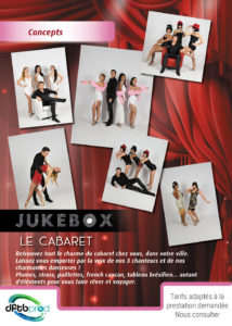 Spectacle Jukebox Le Cabaret